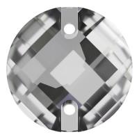 Chessboard sew-on stone flat 2 hole 14mm Crystal F