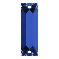 Cosmic Baguette sew-on stone 2 hole 18x6mm Sapphire F
