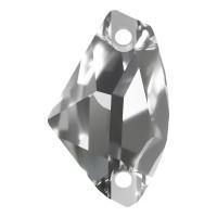 Galactic sew-on stone flat 2 hole 27x16mm Crystal F