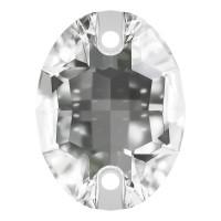 Oval sew-on stone flat 2 hole 16x11mm Crystal F