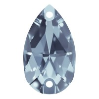 Pearshape sew-on stone flat 2 hole 28x17mm Light Sapphire F