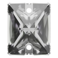 Baguette sew-on stone flat 2 hole 18x13mm Crystal F