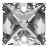 Square sew-on stone flat 2 hole 22mm Crystal F