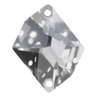 Cosmic sew-on stone flat 2 hole 20x16mm Crystal F
