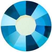 VIVA12 Rose Rhinestone lead free ss8 (2.4mm) Capri Blue AB F (60310AB)
