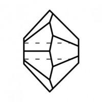 Spacer Crystal Bead 4x6mm Crystal Lagoon