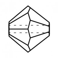 Bicone Crystal Bead 6mm Aquamarine AB 2x