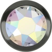 Xirius Rose Framed Hotfix Rhinestone ss34 Crystal AB HF Silver Ring (SR)