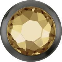Xirius Rose Framed Hotfix Rhinestone ss16 Crystal Golden Shadow HF Silver Ring (SR)