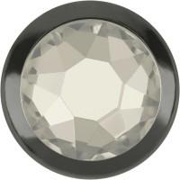 Xirius Rose Framed Hotfix Rhinestone ss34 Crystal Silver Shade HF Silver Ring (SR)