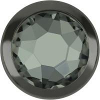 Xirius Rose Framed Hotfix Rhinestone ss34 Black Diamond HF Gun Metal Ring (GM)