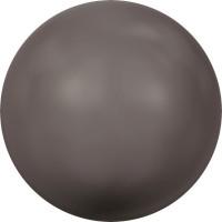 Crystal Pearls 5818 1/2drilled Round Pearl 8mm Crystal Brown Pearl
