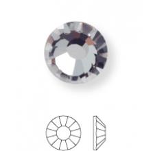 Rose Hotfix Rhinestone ss16 Black Diamond HF