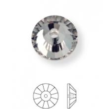 Rose sew-on stone flat 1 hole 8mm Crystal UF Transparent
