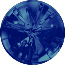 Sea Urchin Round Stone partly frosted 14mm Crystal Bermuda Blue F