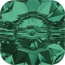 Rivoli Square Crystal Button 12mm Emerald F