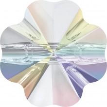 Clover Crystal Button 14mm Crystal AB