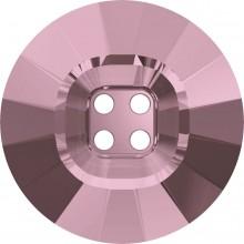4 Hole Rivoli Button 18mm Crystal Antique Pink