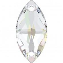 Navette sew-on stone 2 hole (29X145) Crystal AB F