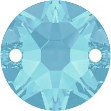 Xirius sew-on stone 2 hole 12mm Aquamarine F