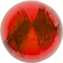 Glass Cabochon Round 14mm red white marbled