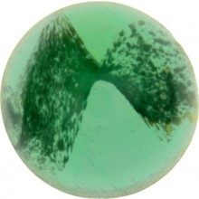 Glass Cabochon Round 14mm green white marbled