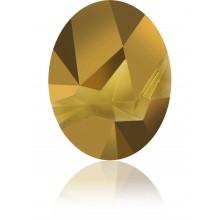 Kaputt Oval Fancy Stone partly frosted 29x22.5mm Crystal Dorado F