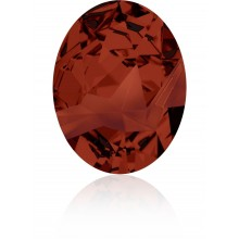 Kaputt Oval Fancy Stone partly frosted 29x22.5mm Crystal Red Magma F