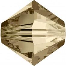 Xilion Bead 4mm Crystal Golden Shadow