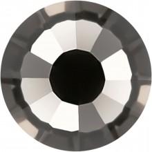 Rose Rhinestone Hotfix ss10 Light Black Diamond HF