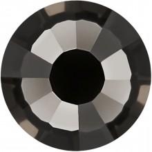 Rose Rhinestone Hotfix ss10 Black Diamond HF
