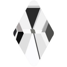 Rhombus Hotfix 10x6mm Crystal HF