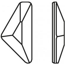 Triangle Alpha Hotfix 10x5mm Crystal HF