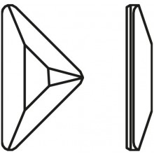 Triangle Gamma Hotfix 11x6.3mm Crystal HF