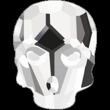 Skull Hotfix 10x7.5mm Crystal HF