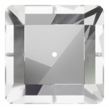 Square sew-on stone 1 hole 12mm Crystal F