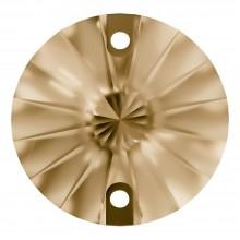 Rivoli sew-on stone flat 2 hole 10mm Crystal Golden Shadow F