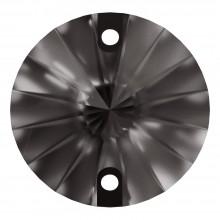 Rivoli sew-on stone flat 2 hole 10mm Black Diamond F