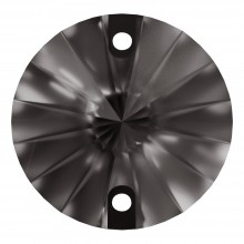 Rivoli sew-on stone flat 2 hole 14mm Black Diamond F