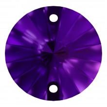 Rivoli sew-on stone flat 2 hole 10mm Purple Velvet F