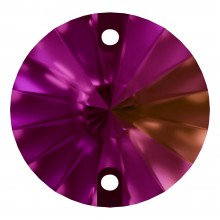 Rivoli sew-on stone flat 2 hole 12mm Fuchsia F