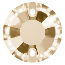 Rose sew-on stone flat 2 hole 12mm Crystal Golden Shadow F