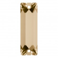 Cosmic Baguette sew-on stone 2 hole 18x6mm Crystal Golden Shadow F