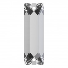 Cosmic Baguette sew-on stone 2 hole 26x9mm Crystal F