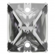 Baguette sew-on stone flat 2 hole 25x18mm Crystal F