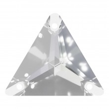 Triangle sew-on stone flat 3 hole 16mm Crystal F