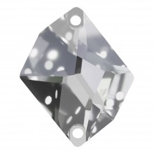 Cosmic sew-on stone flat 2 hole 27x21mm Crystal F