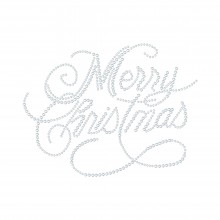 "Hotfix Rhinestone Transfer ""Merry Christmas"" 177x135mm"