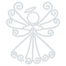 "Hotfix Rhinestone Transfer ""Angel"" 86x74mm"