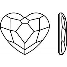 Heart Hotfix Rhinestone 10mm Crystal AB HF